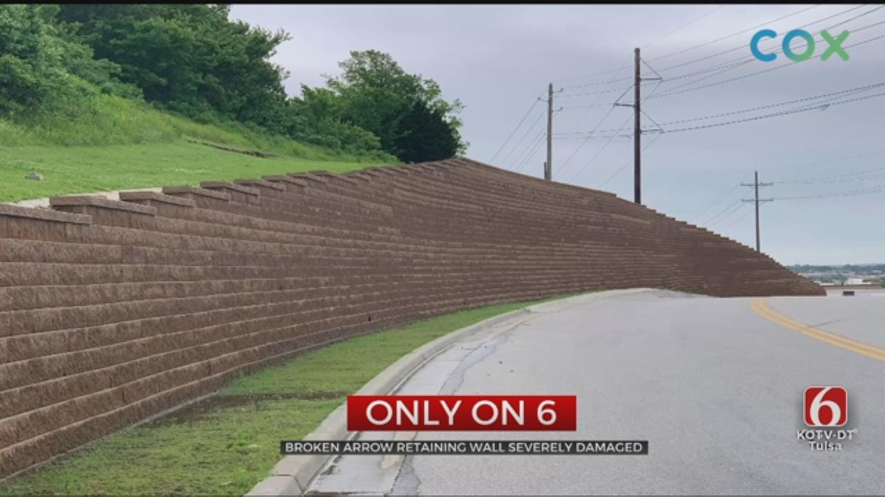 Broken Arrow Retaining Wall Damage Closes Busy Retail-Area Road