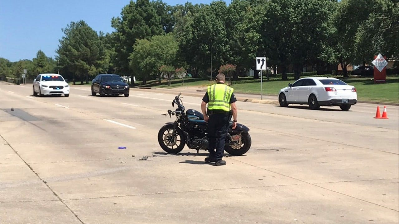 Tulsa Motorcycle Crash Sends Man To Hospital