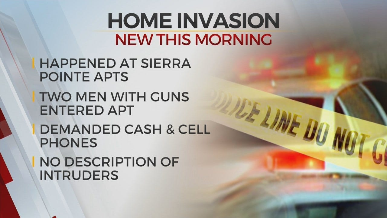 Tulsa Police Search For Home Invasion, Robbery Suspects