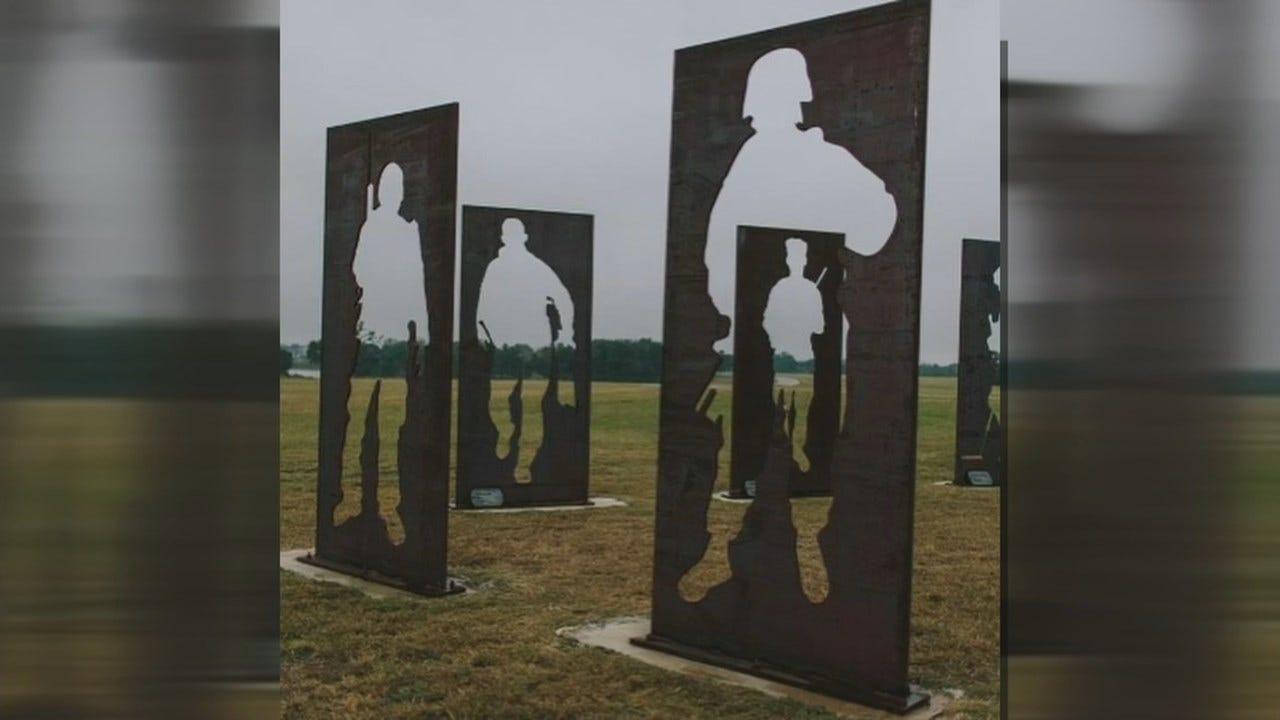 Traveling Monument In Broken Arrow Raises Awareness Of Veteran Suicide
