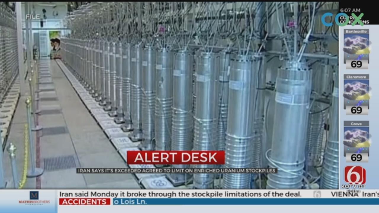 Iran Exceeds Uranium Stockpile Limit, Says U.N.