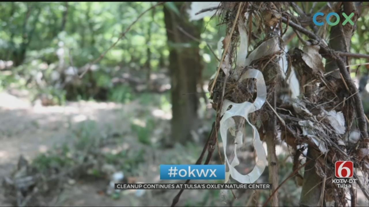 Oxley Nature Center Gets Help From Local Tulsa Church For Clean-Up