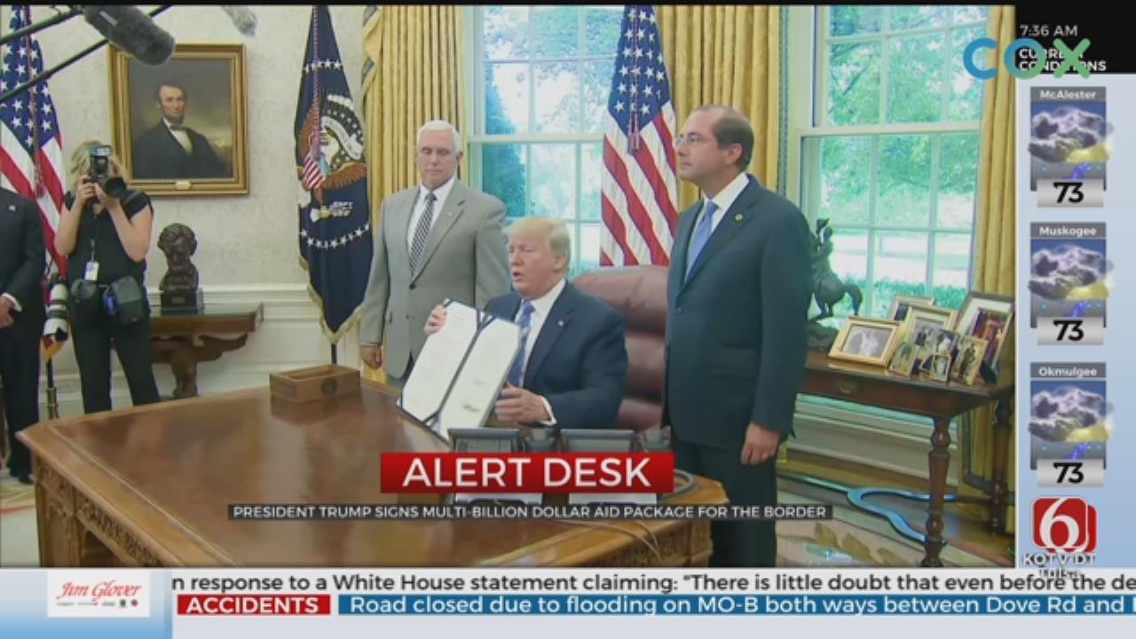 President Trump Signs Multi-Billion Border Aid Package