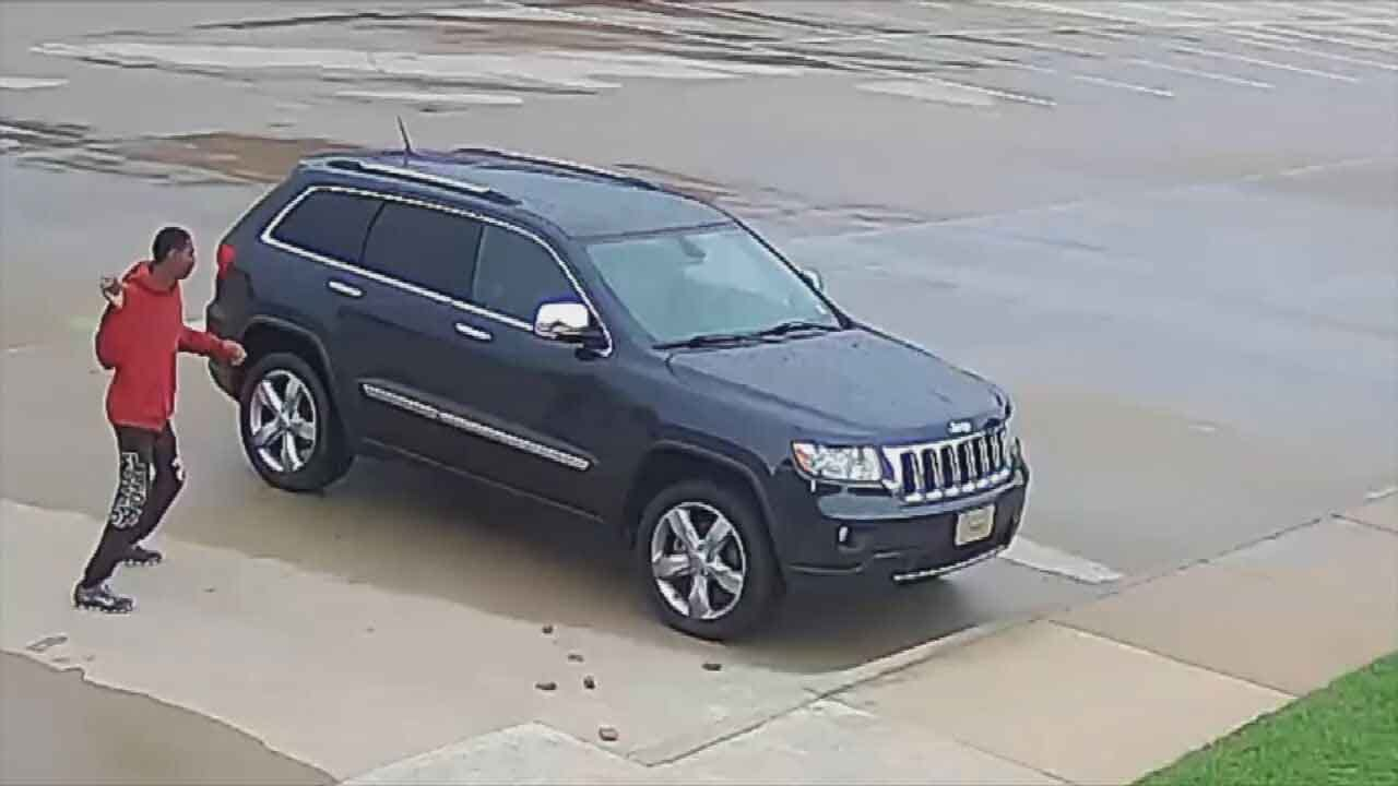 Tulsa Police Looking For Man Who Pelted Jeep With Bricks