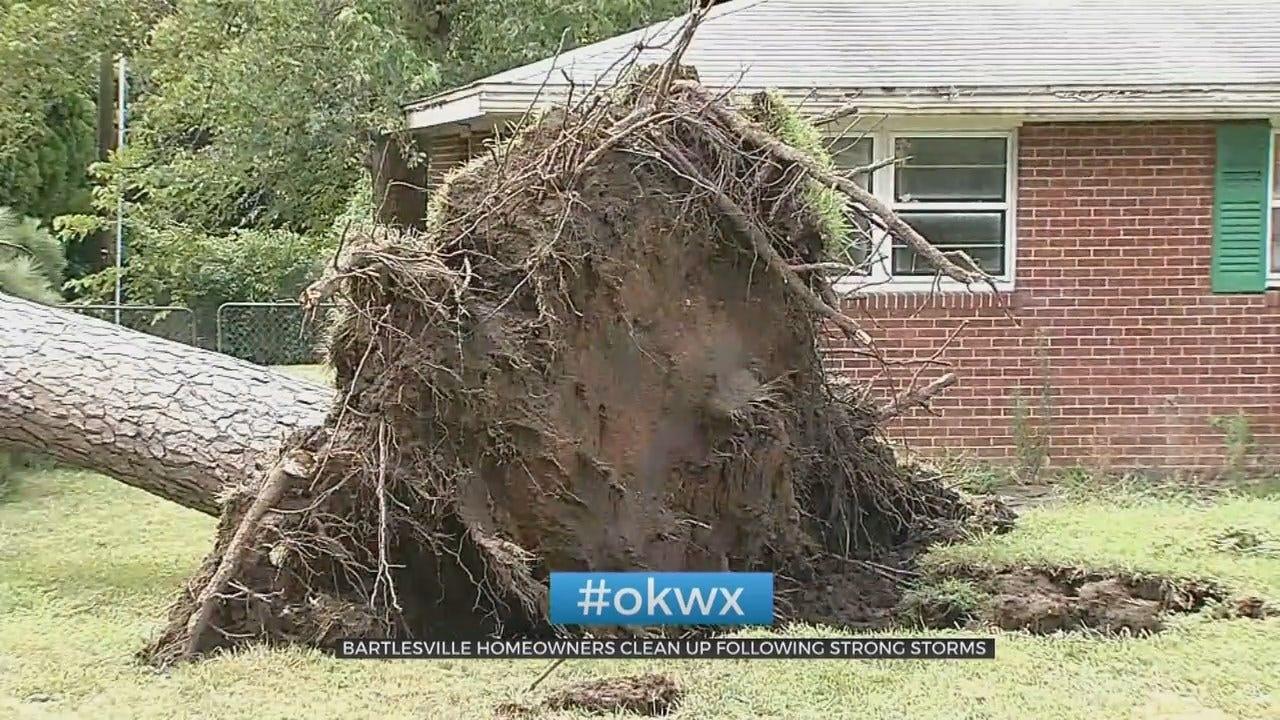 Extreme Winds Leave Damage To Bartlesville Neighborhoods
