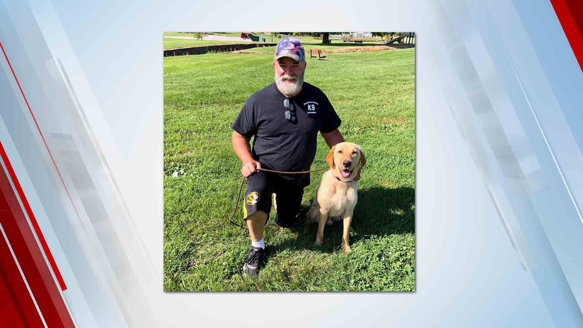 Lab Saved By Rogers County Deputies Becomes Search & Rescue Dog