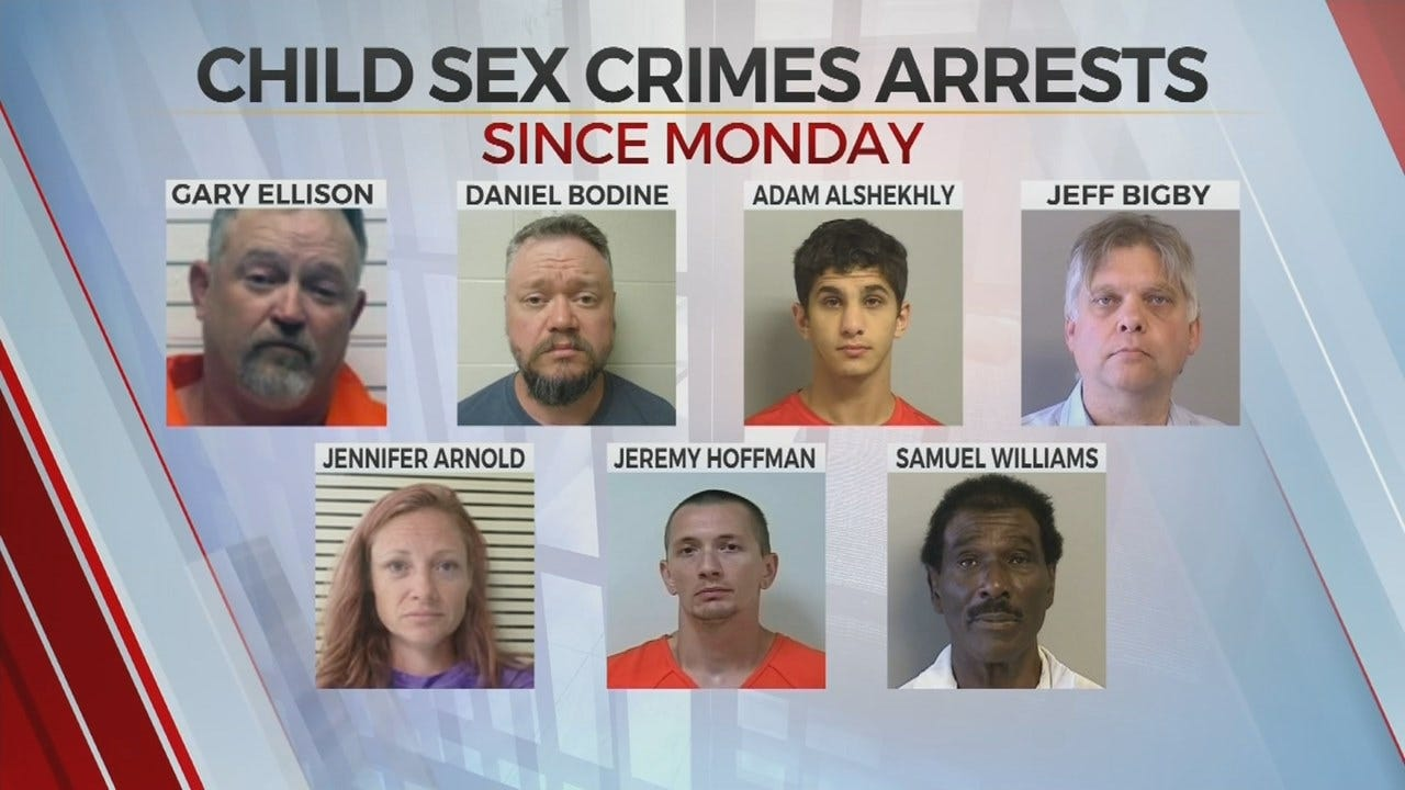 Tulsa Sees 7 Child Sex Crimes In 5 Days
