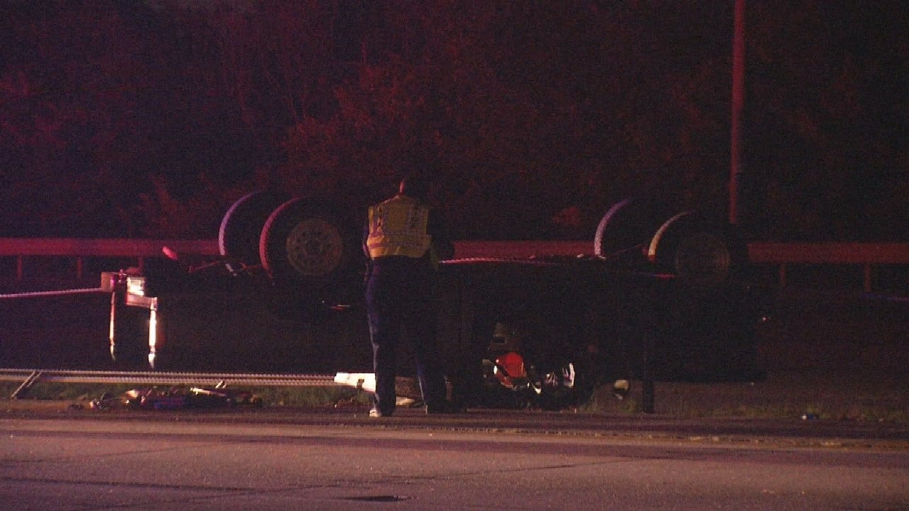 Man Sent To Hospital After Rollover Crash In Tulsa