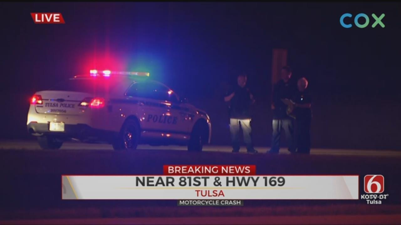 Motorcycle Crash Shuts Down Ramp To Highway 169