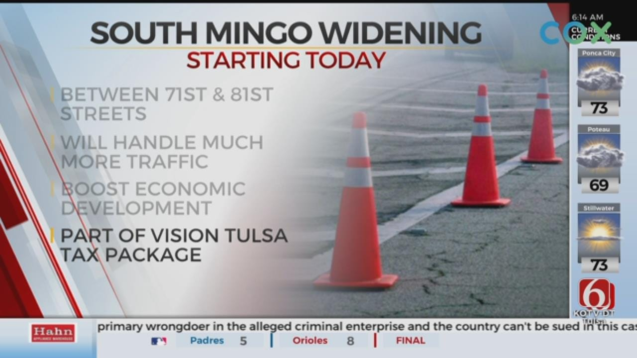 Project Starts To Widen Part Of Mingo