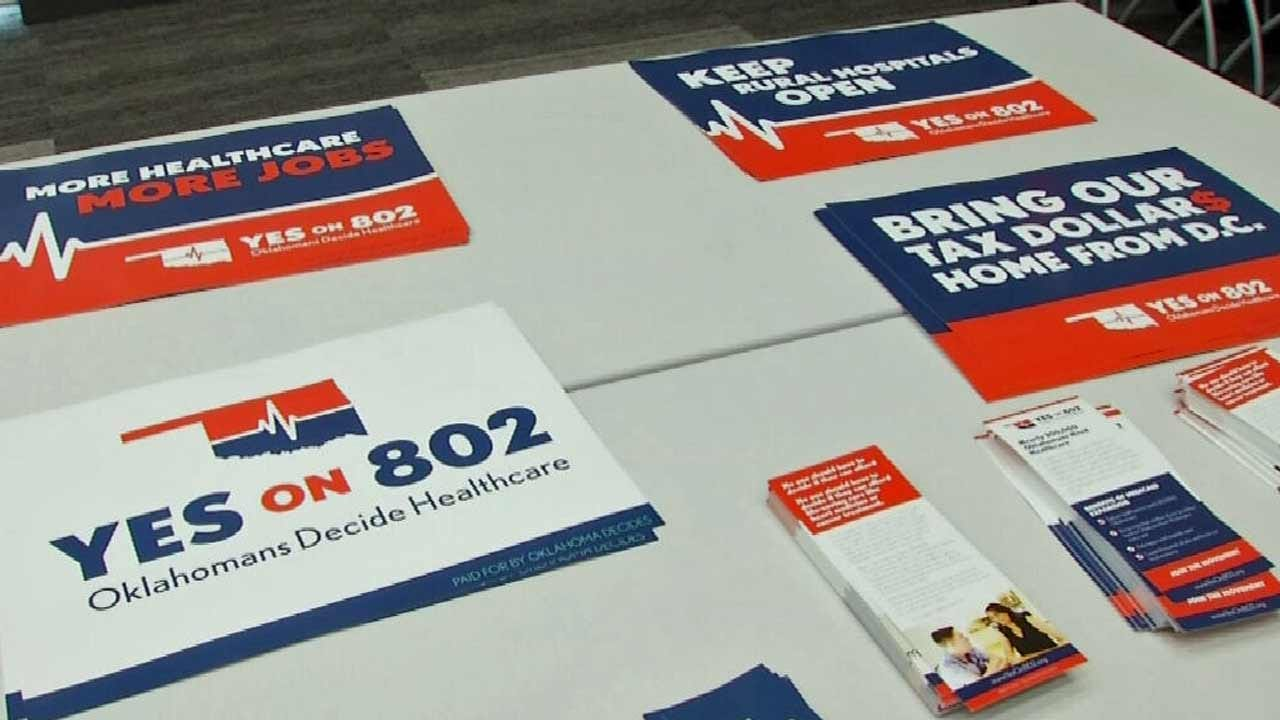 Volunteers Join 'Yes On 802' Oklahoma Medicaid Expansion Petition Drive