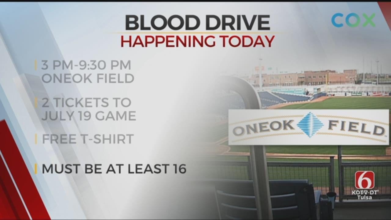 Blood Drive Being Held At ONEOK Field