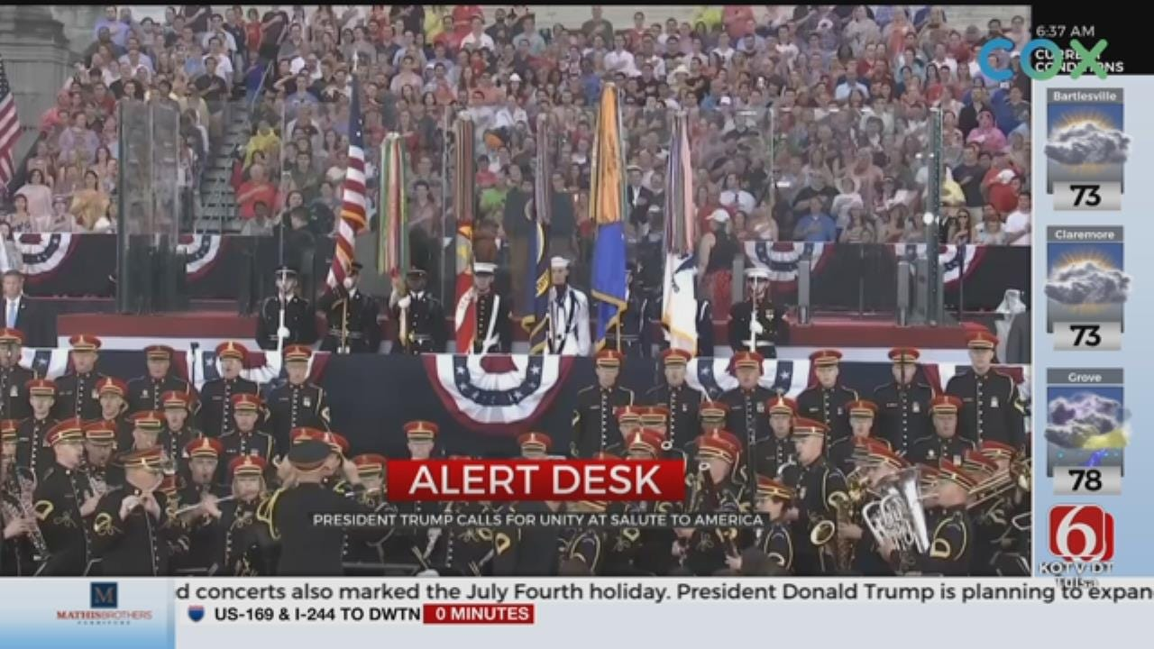 President Trump Focuses On U.S. Military At 'Salute To America'