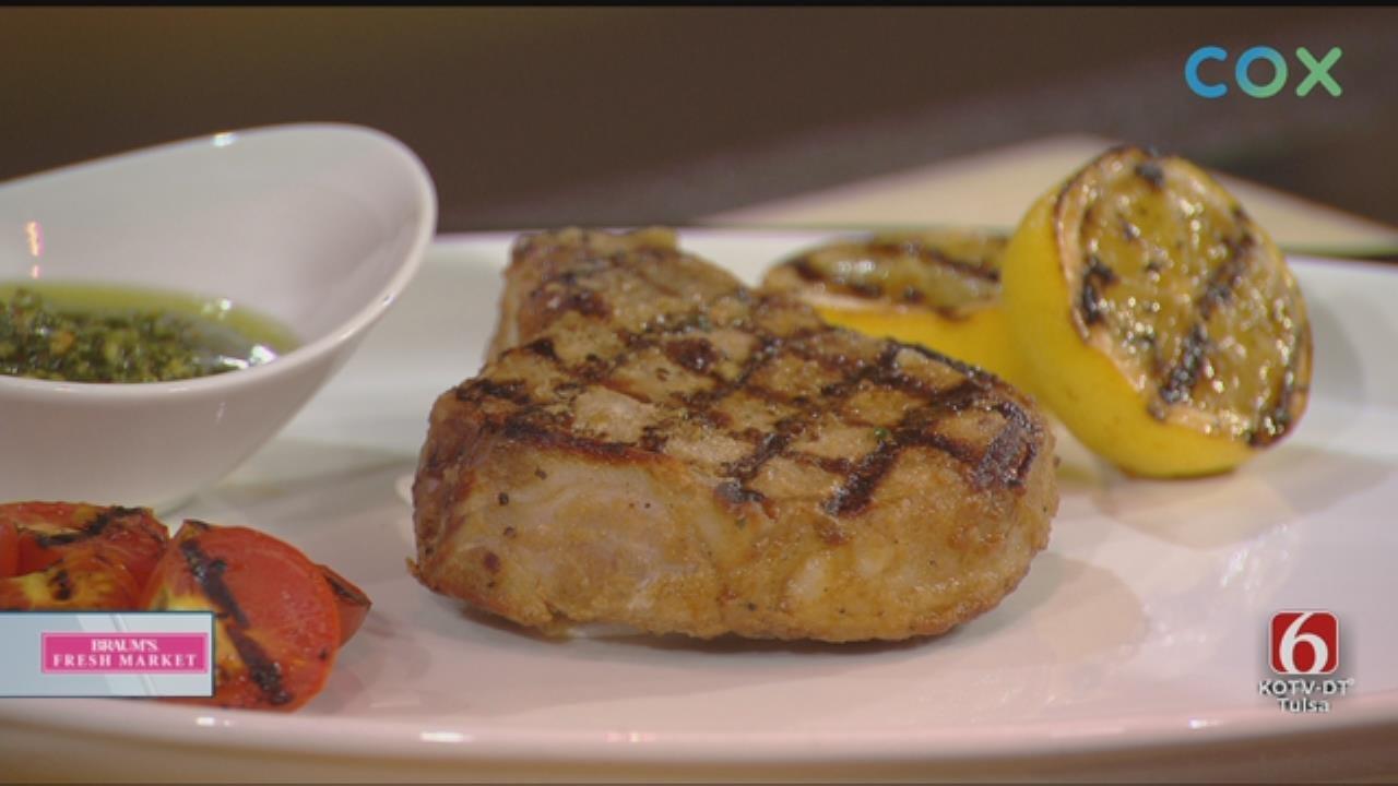 Grilled Marinated Pork Chop w/Chimichurri