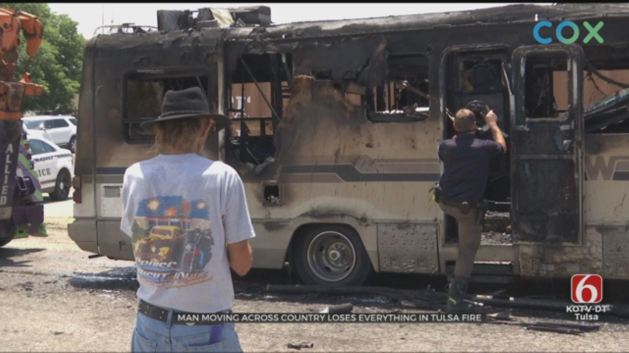 Man Loses Everything After RV Catches Fire In Tulsa