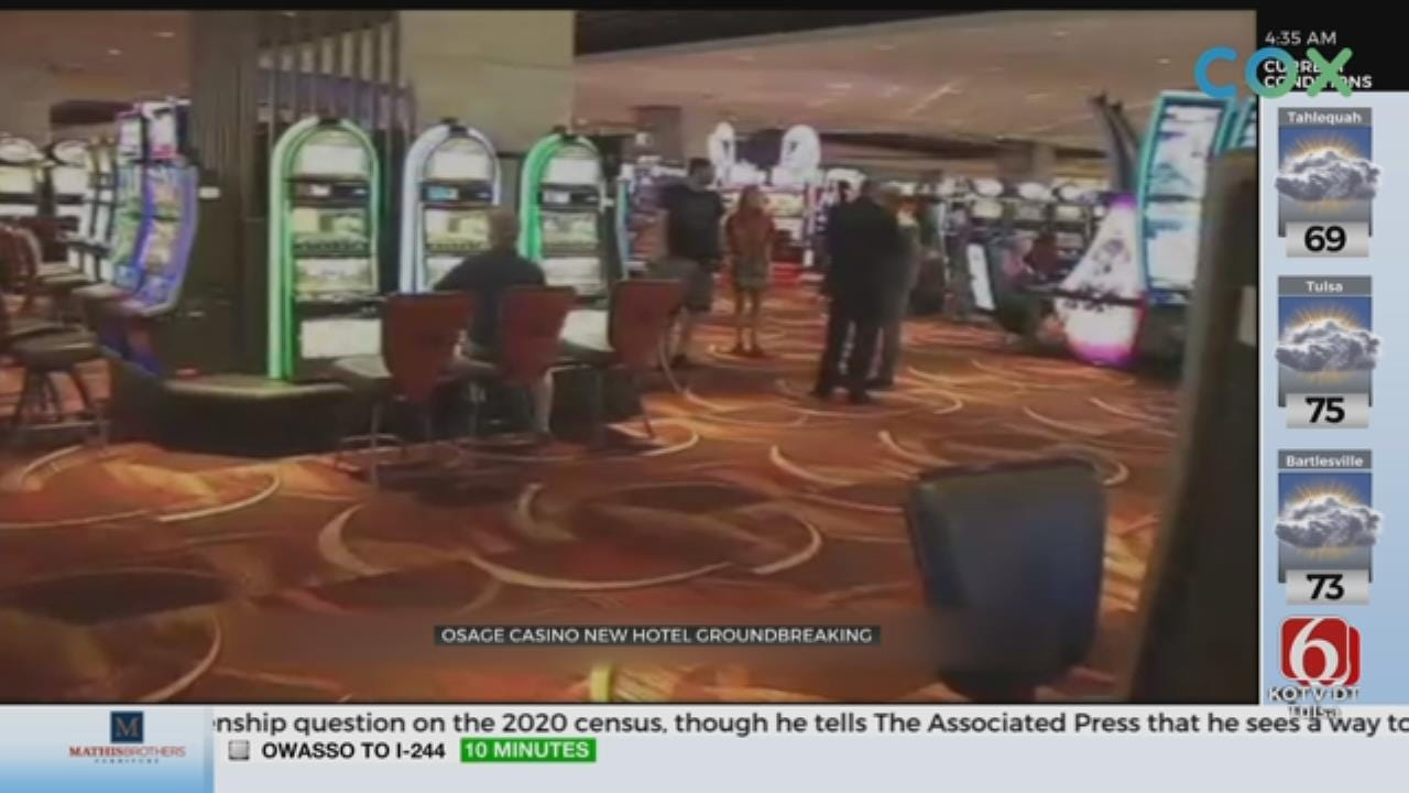 Osage Casino Holding Groundbreaking For New Hotel Expansion