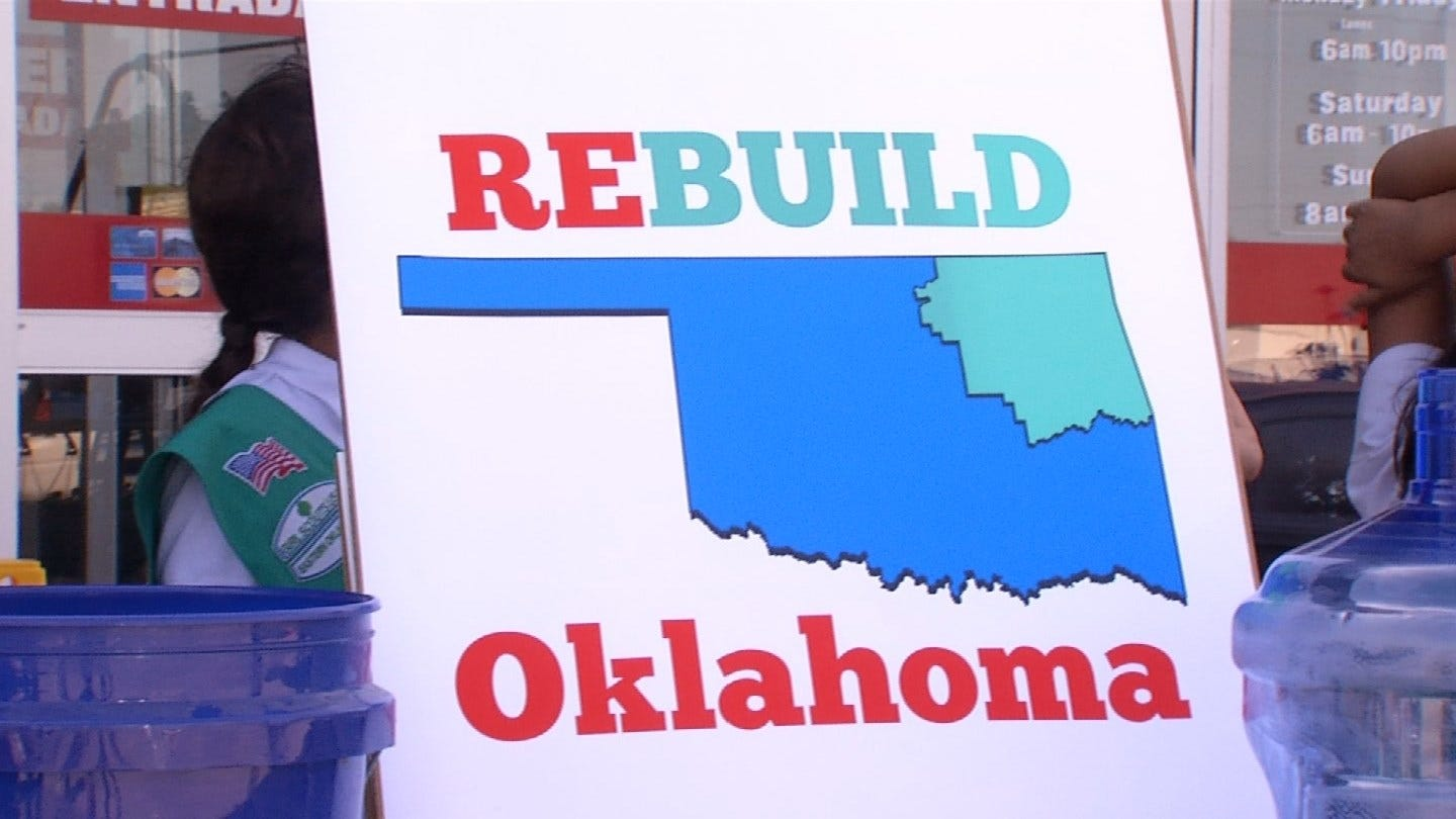 Relief Program 'Rebuild Oklahoma' Holds Donation Event For Flood Victims
