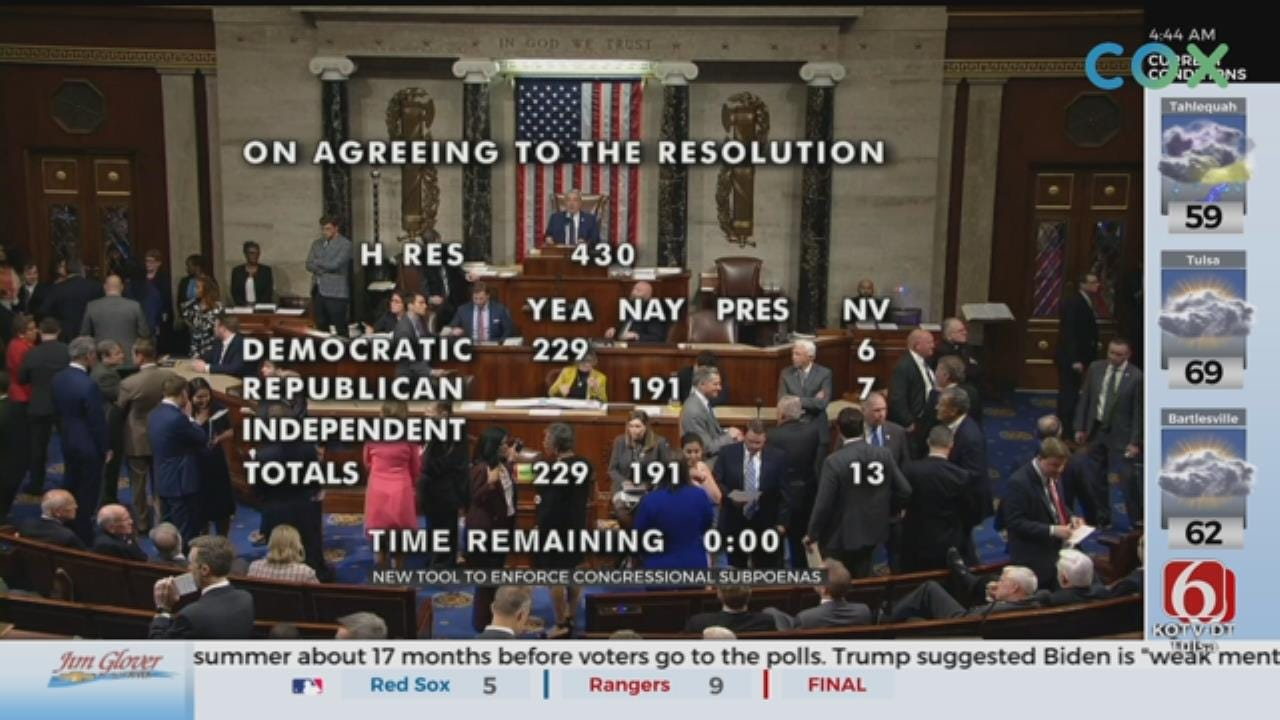 House Votes To Enforce Subpoenas For Trump Administration Officials