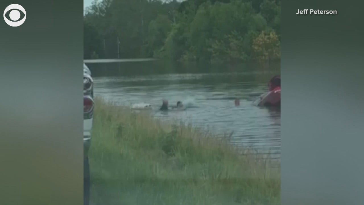 Rescued: Strangers Help Missouri Driver From Sinking Car