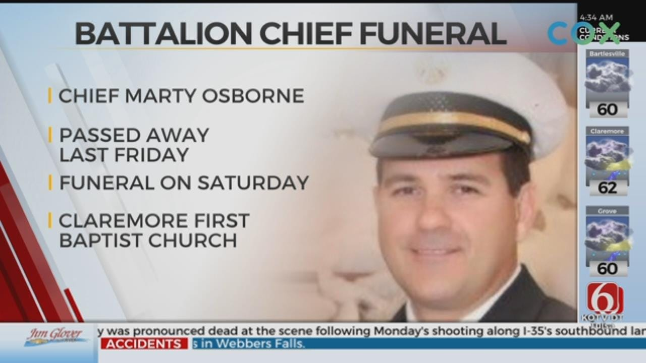 Funeral Services Planned For Claremore Fire Department Battalion Chief