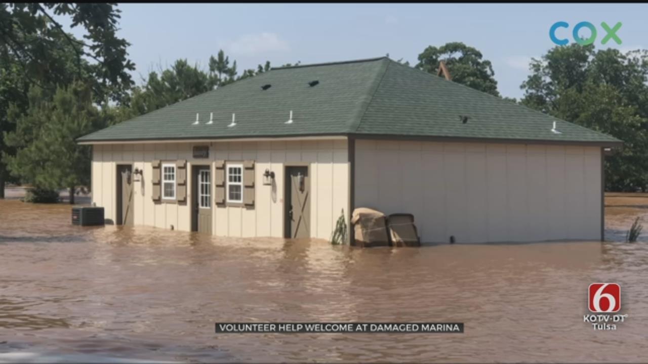 Flooded Marina On Keystone Lake Preparing For Summer
