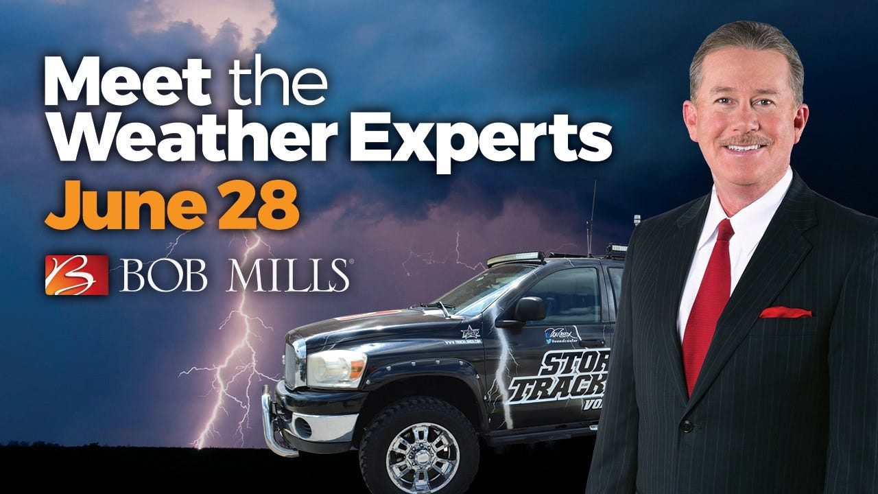 Meet & Greet The Weather Team At Bob Mills Furniture On June 28
