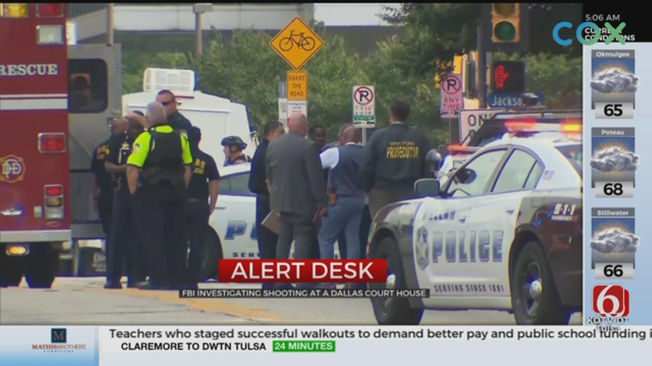 Dallas Gunman Killed After Opening Fire On Courthouse
