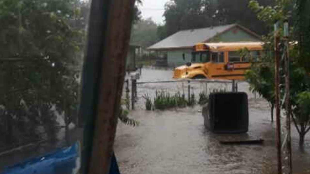 School Bus In High Water Illustrates Dangers Of Tulsa Flash Flooding