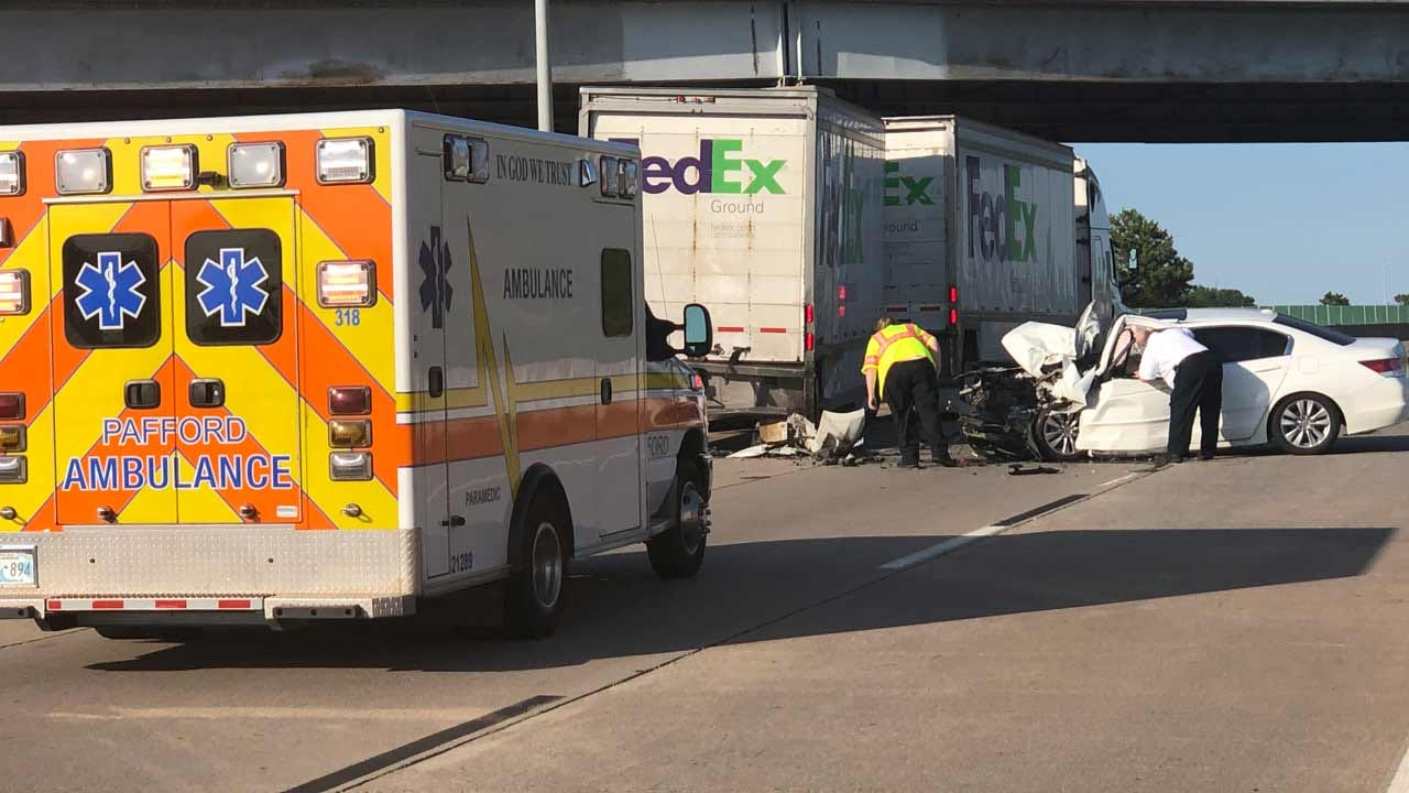 Tulsa Man Critically Hurt In Crash With Semi Truck