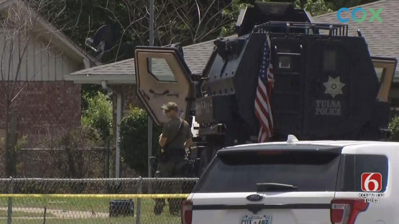 Tulsa Homicide Suspect Shot By Sniper During Standoff, Police Say