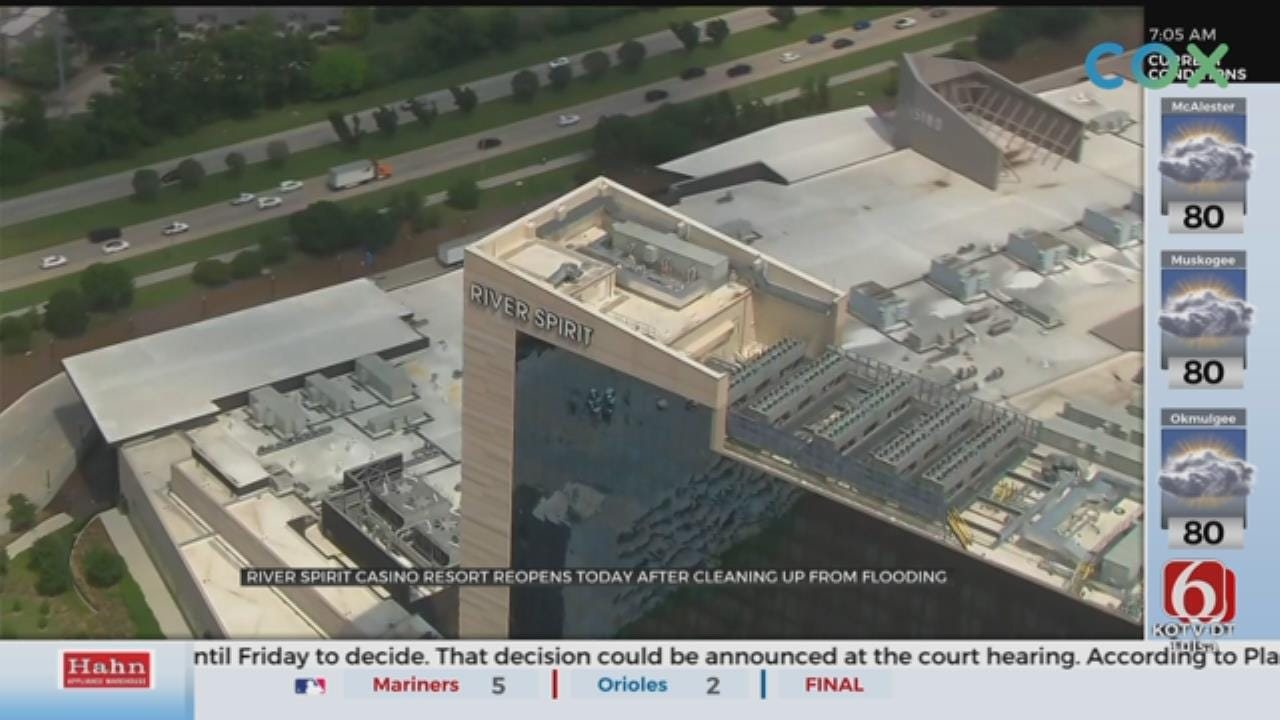 Tulsa River Spirit Casino Open For Business After Historic Flooding