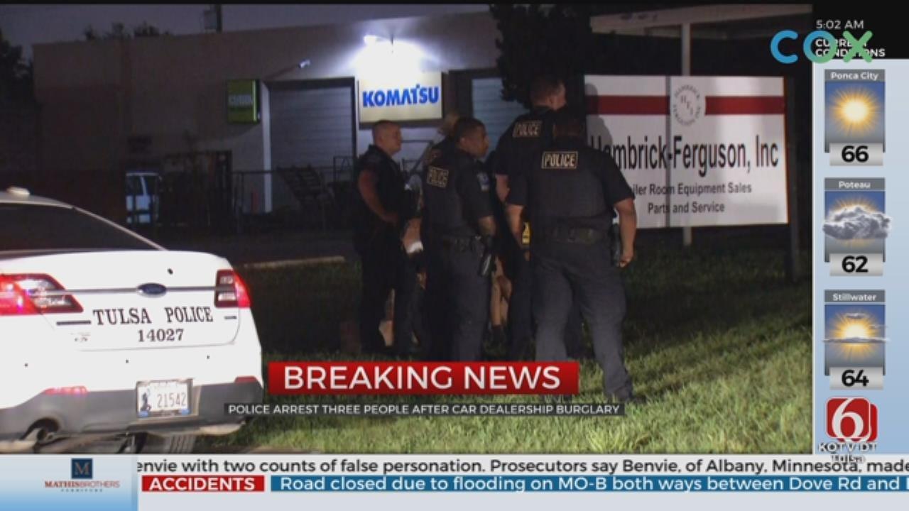 Tulsa Police: 3 In Custody After Break-in At Car Dealership