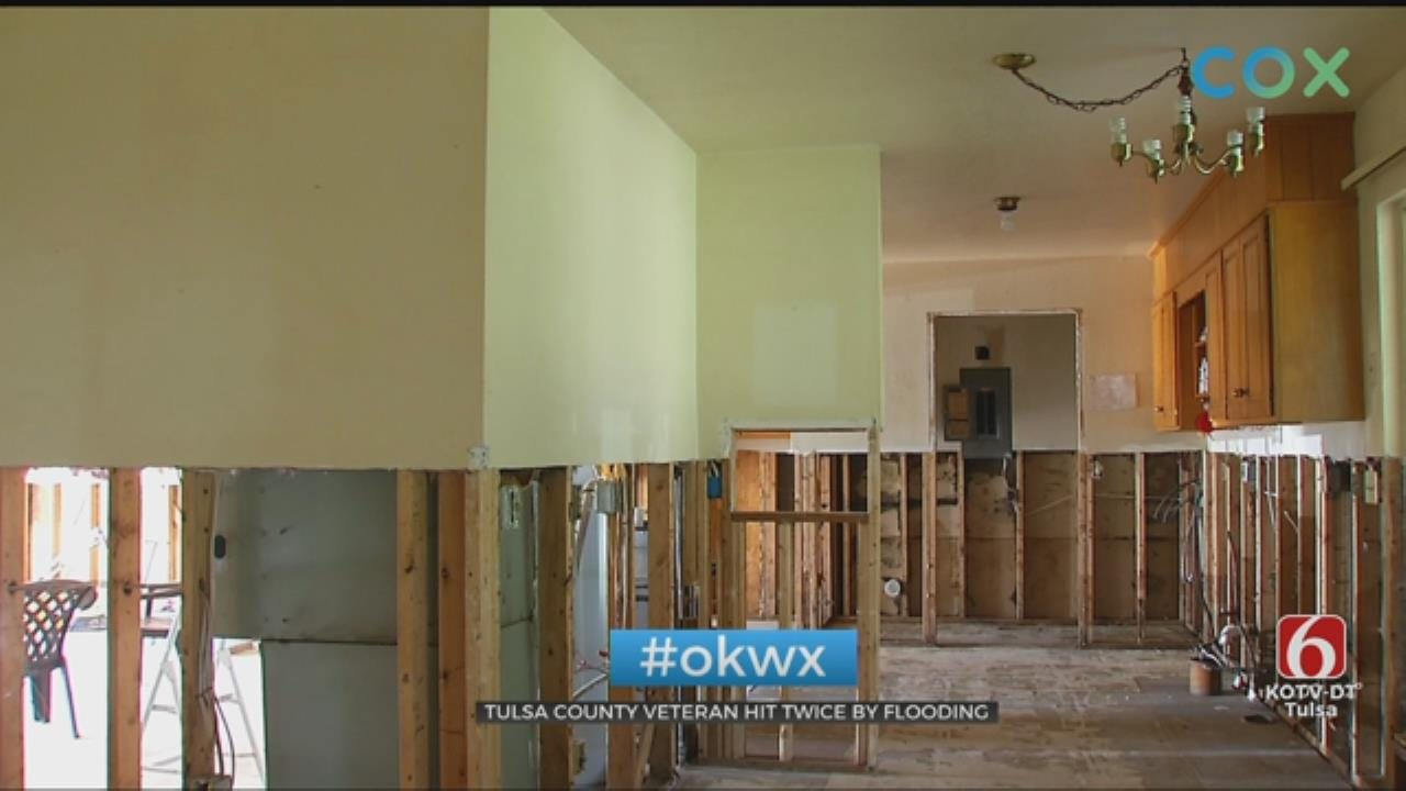 Oklahoma Veteran Still Cleaning Up After Flooding