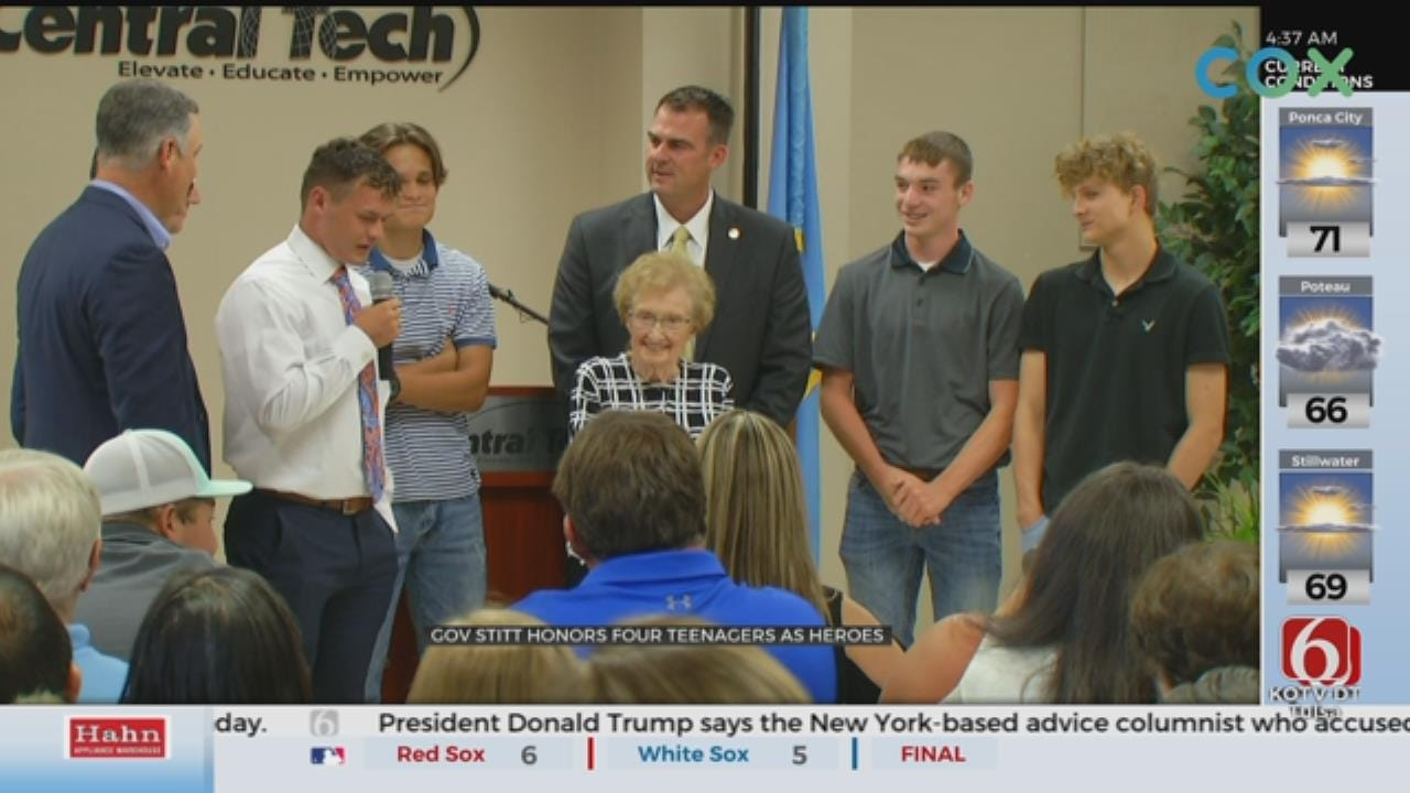 Sapulpa Teens Honored For Heroic Actions