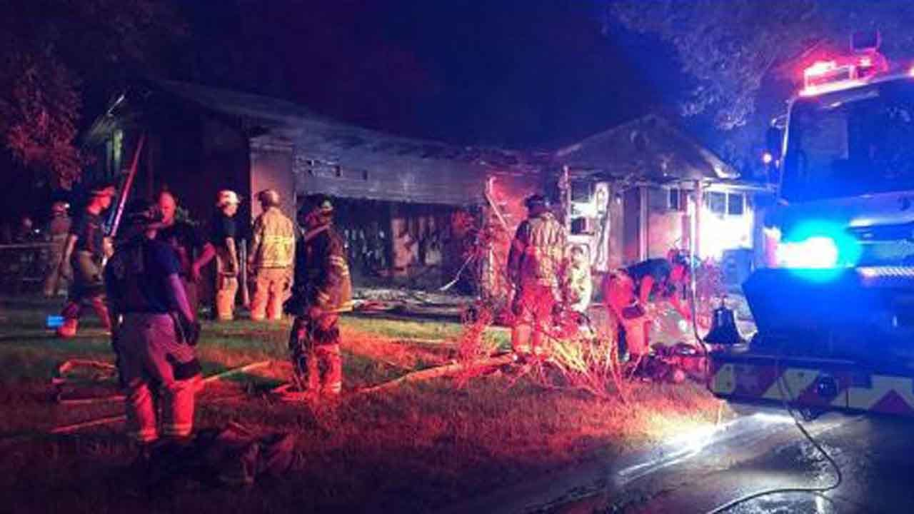 Tulsa Firefighter Injured Battling House Fire