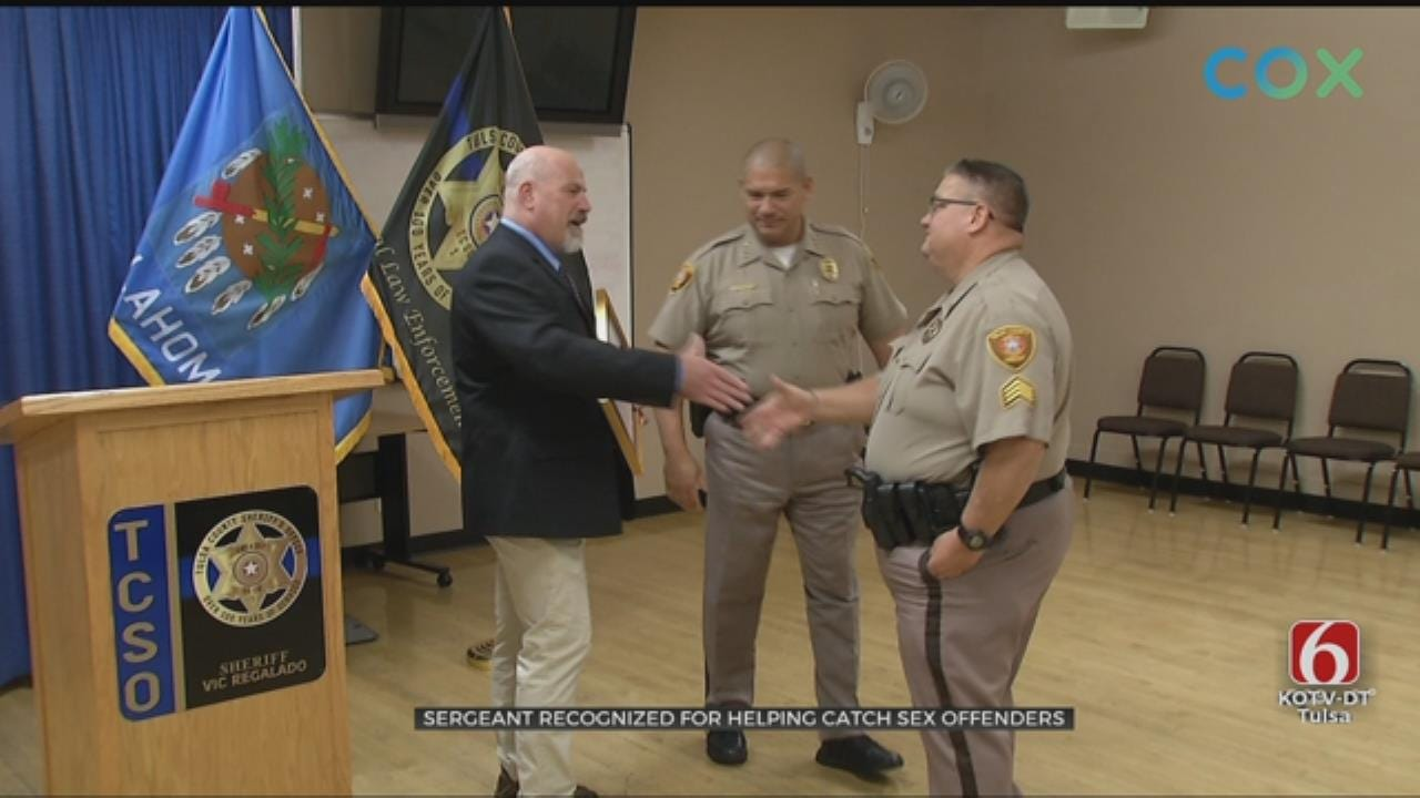 Tulsa County Deputy Recognized For Role In Catching Sex Offenders