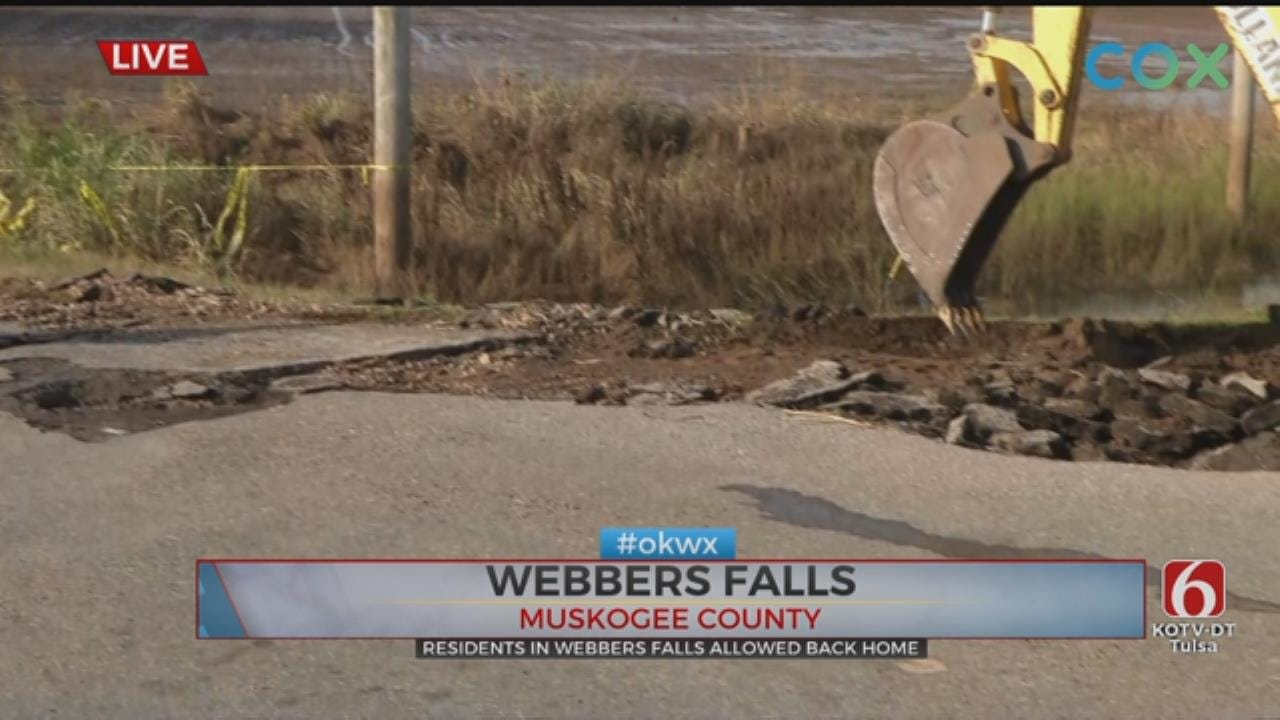 Clean Up Begins in Webbers Falls After Flooding