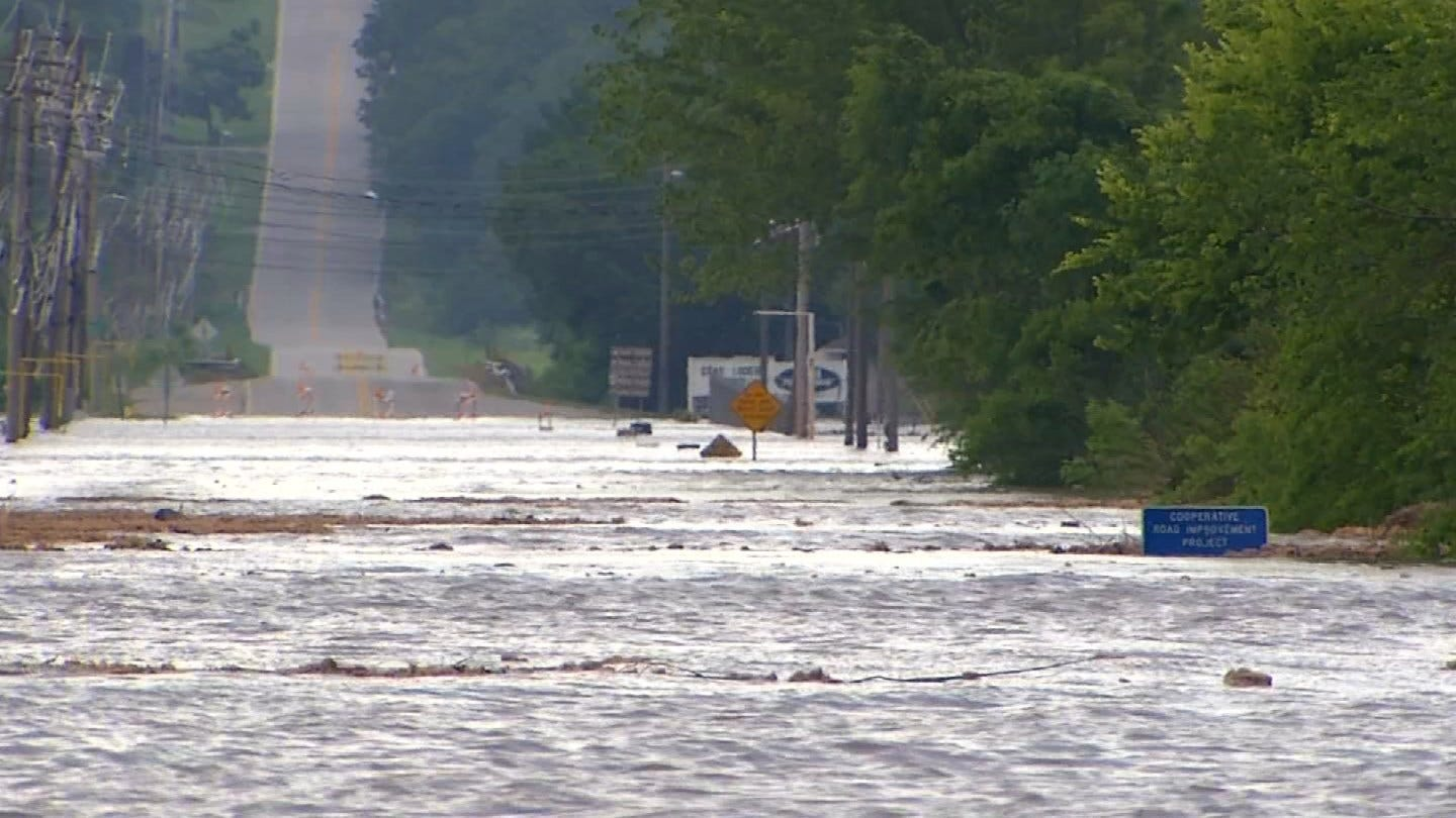 Floods Cause Extensive Damage To Oklahoma Roads