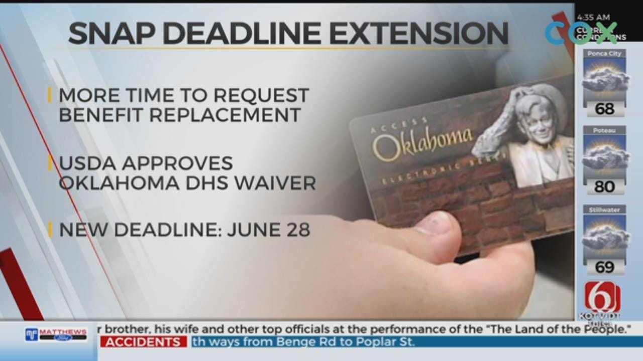 UPDATE: SNAP Recipients Given Extension To File Food Replacement Form