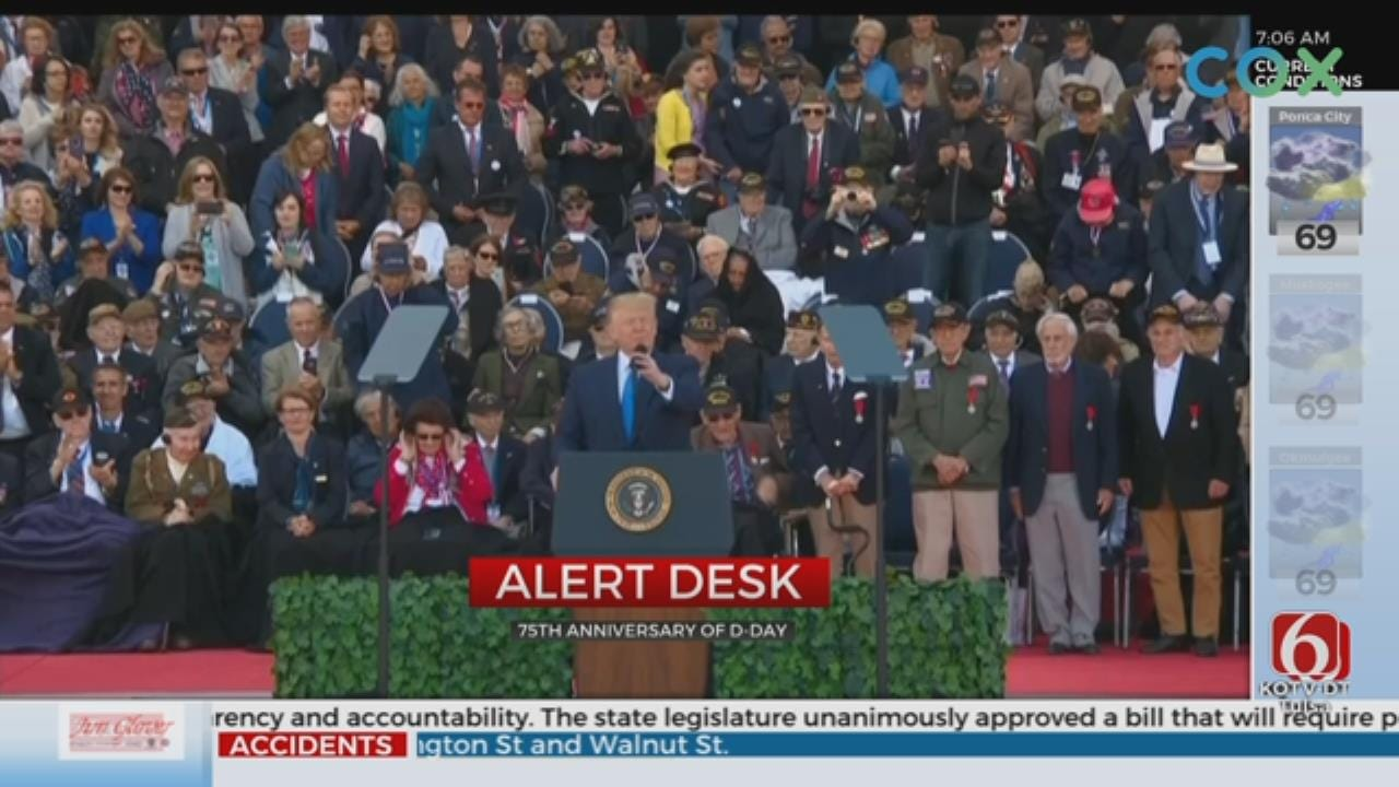 Trump Tells D-Day Veterans They're Among Greatest Americans
