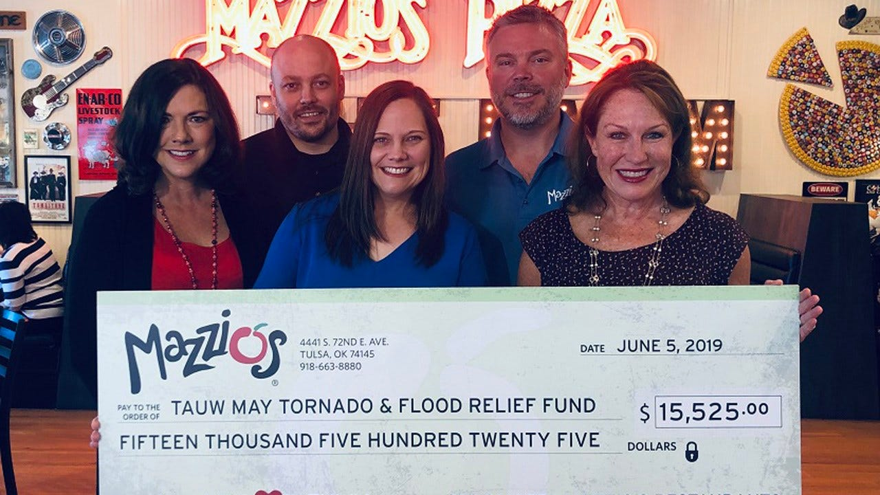 Mazzio's Raises Over $15,000 For United Way's May Tornado And Flood Relief Fund