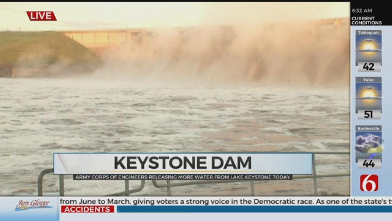 Army Corps Of Engineers Release More Water From Keystone Dam