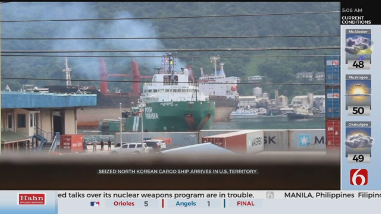 North Korean cargo ship seized by US arrives in American Samoa