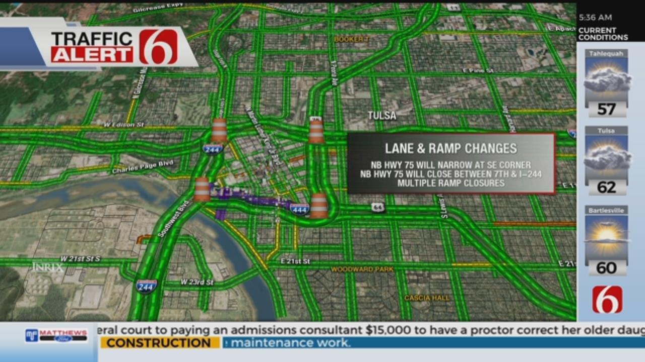 New Lane Closures To Start On Tulsa's IDL