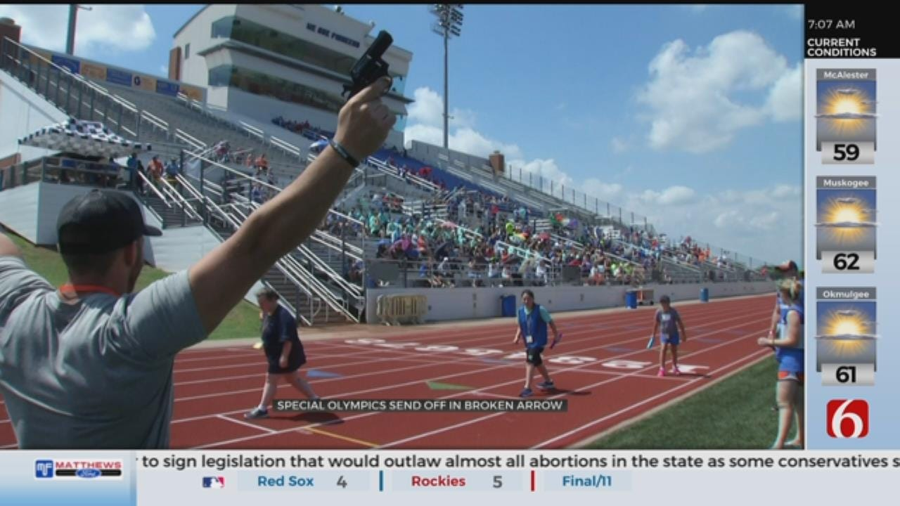 Broken Arrow Holds Send Off For Special Olympics Athletes