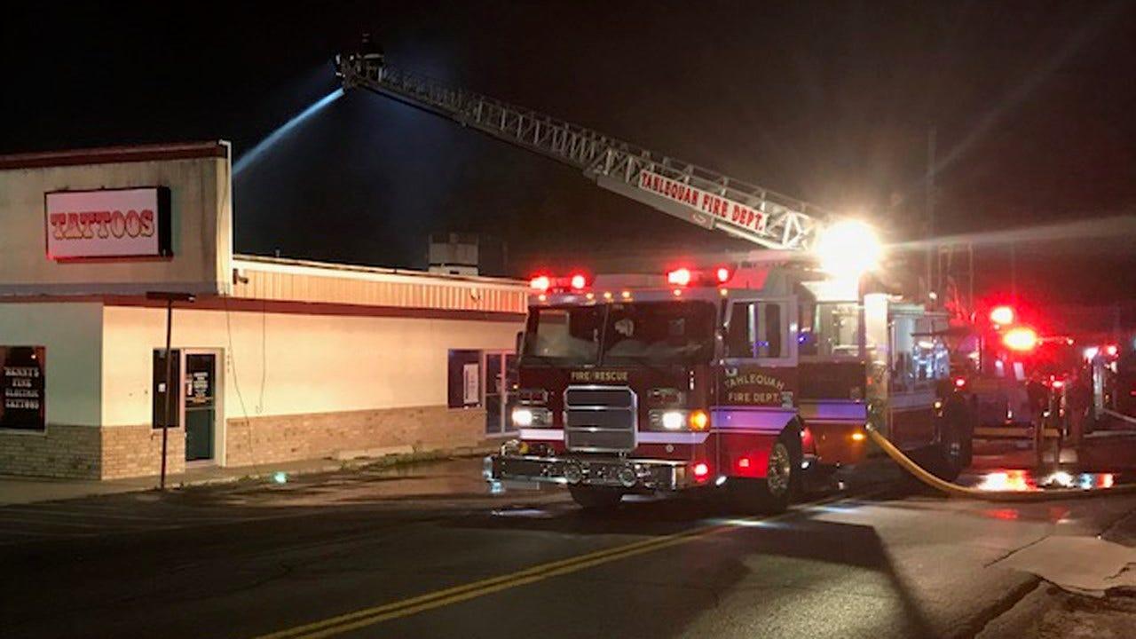 Fire Damages Tahlequah Shopping Center