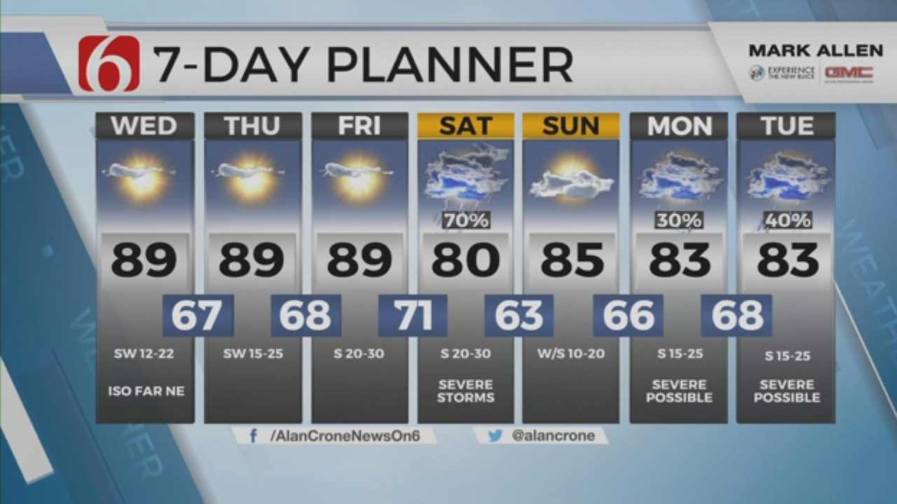 Strong Storm System To Bring Chance Of Severe Weather To Oklahoma