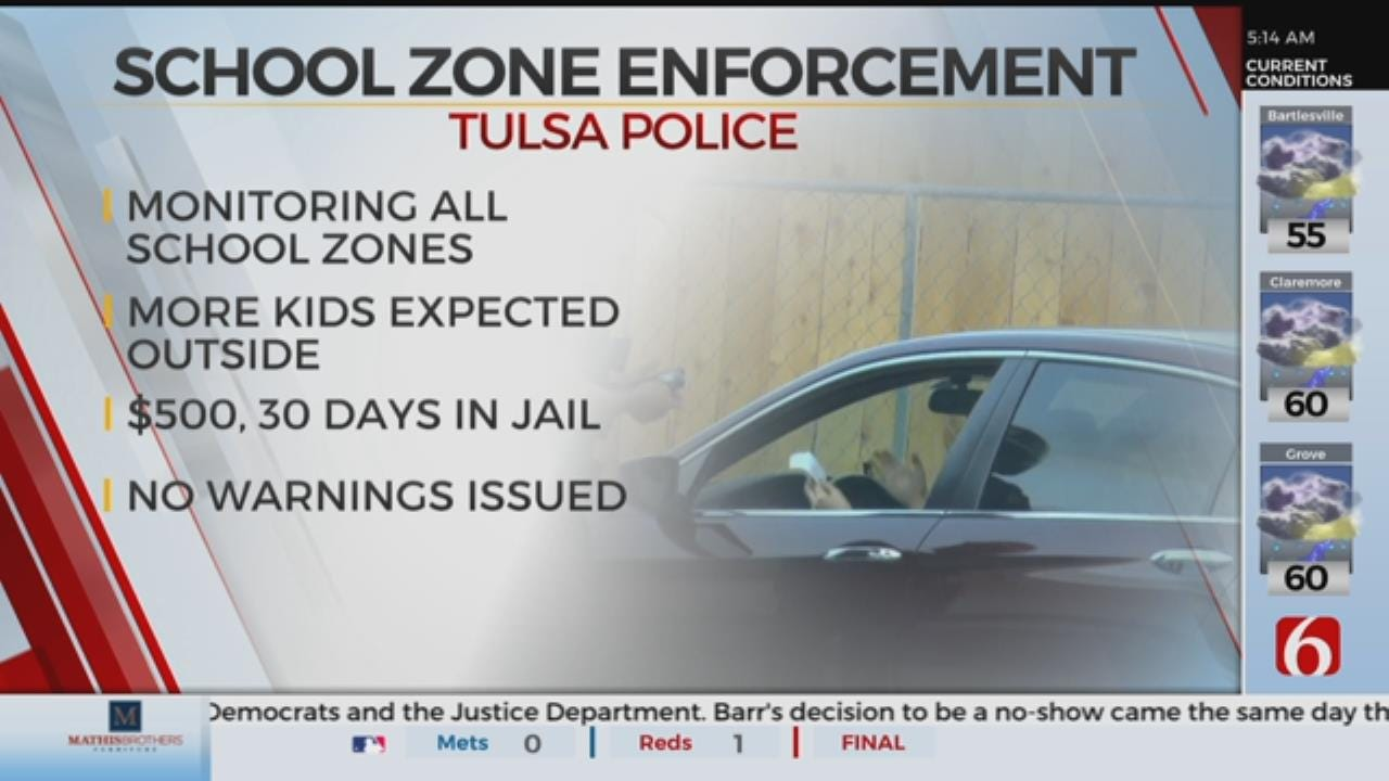 Tulsa Police Step Up School Zone Enforcement