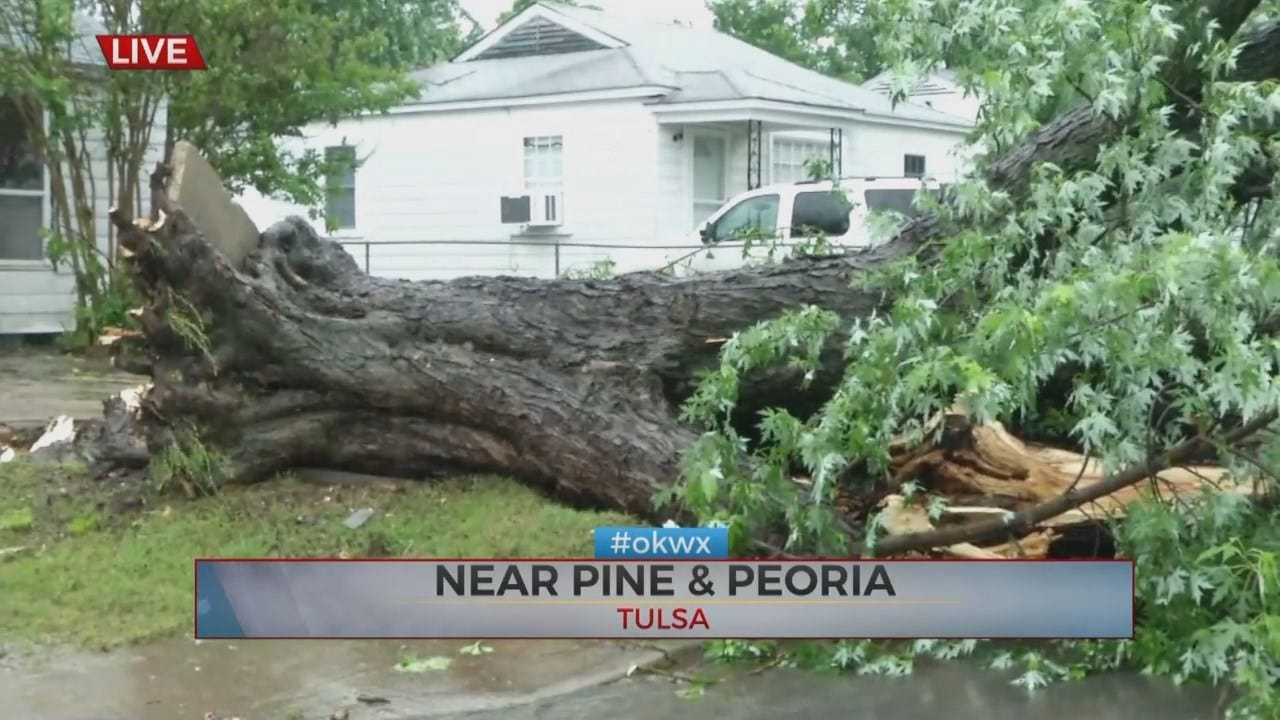 Tulsa Man Injured When Tree Falls On House During Storm