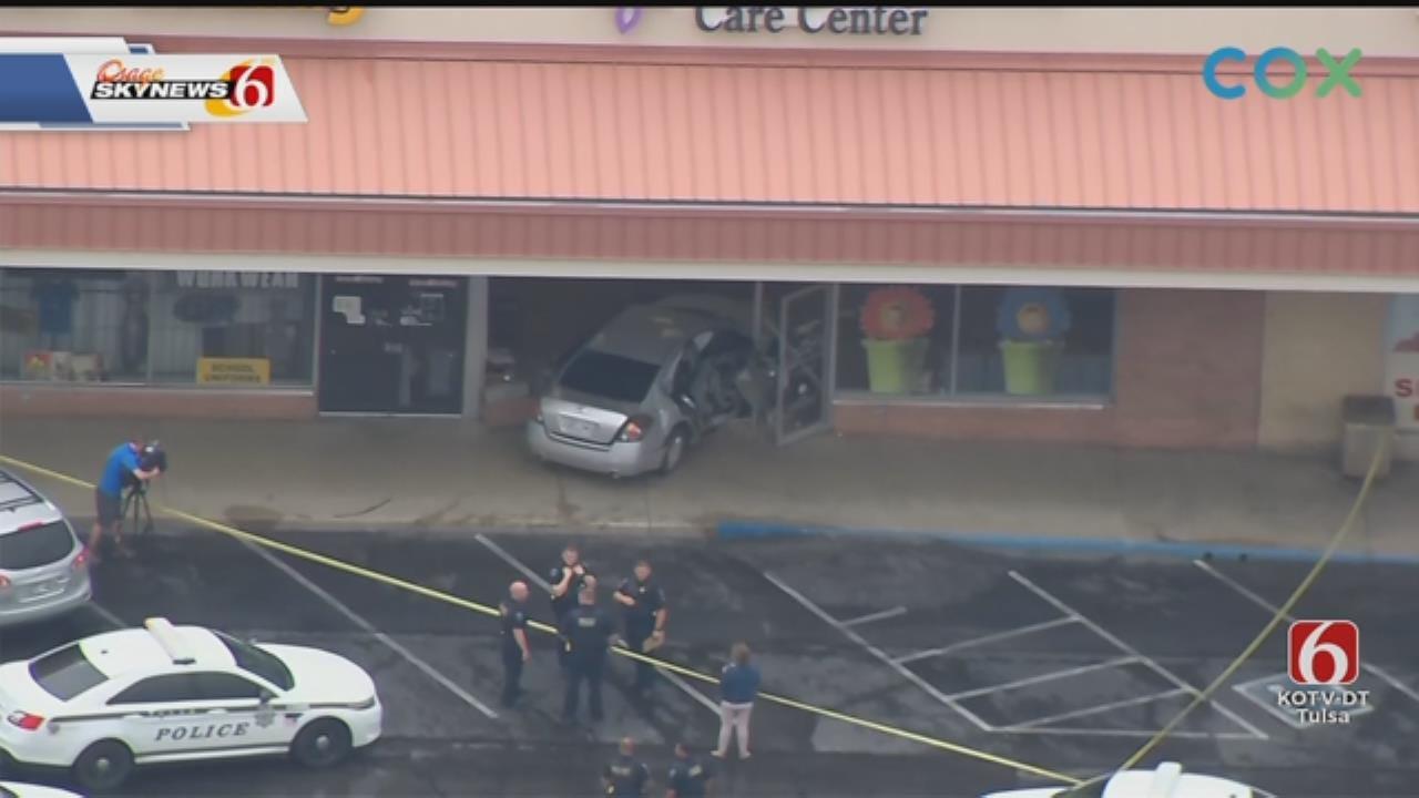 Tulsa Police Arrest Man After His Car Crashes Into Pregnancy Center